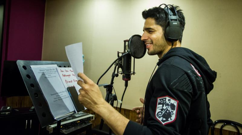 Sidharth turns to the mic for the first time.
