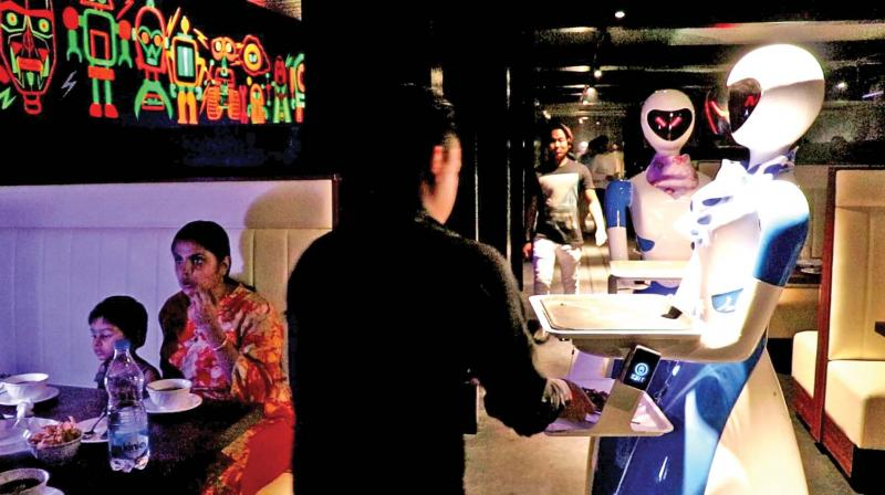 Renamed to ROBOT, this themed restaurant has four robots serving dishes to the guests and is the first-of-its-kind in the country.