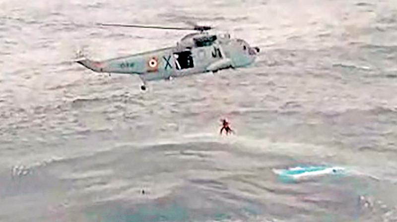 Chopper with 7 on board, including 5 ONGC employees, goes missing