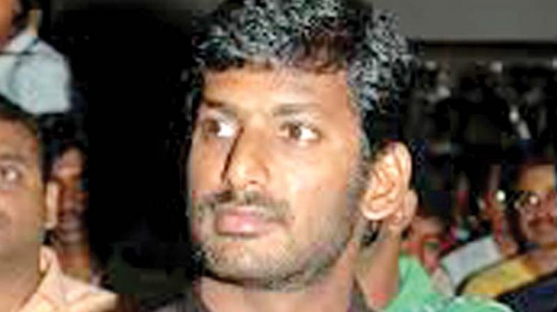 Hero Vishal Files Nomination For RK Nagar by-Poll Elections