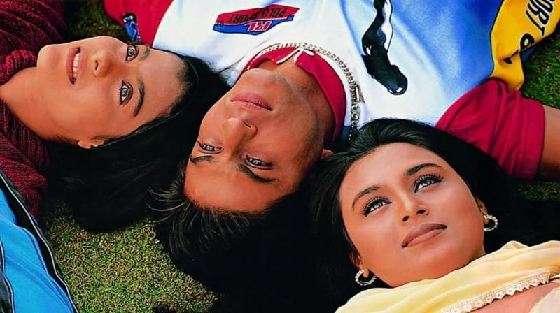 Shah Rukh Khan, Kajol and Rani Mukerji. (Photo: Instagram)
