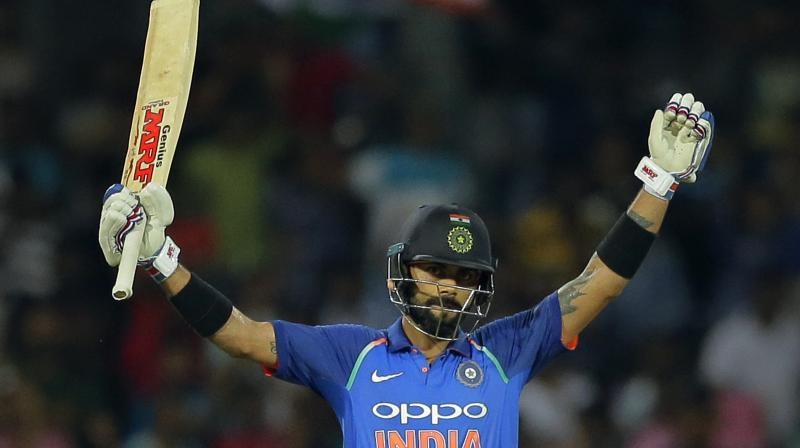 Virat Kohli, who is also top-ranked in T20Is, has increased his lead over Australia's David Warner from 12 to 26 points and is now on 887 points - equaling the highest ODI rating points by an India batsman, recorded by Master Blaster Sachin Tendulkar in 1998.(Photo: AP)