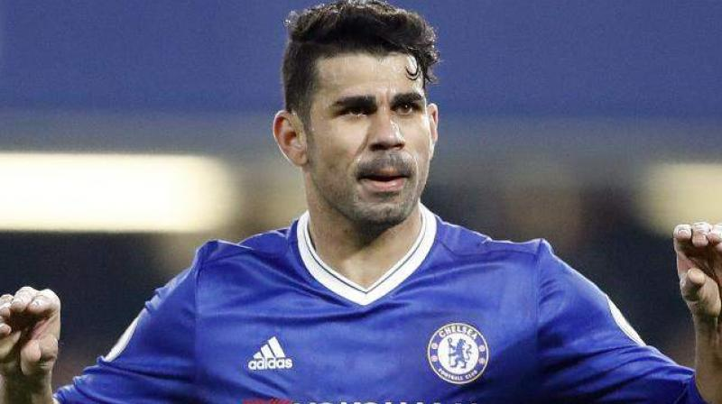 Diego Costa, 28, has been frozen out by Chelsea manager Antonio Conte and spent the transfer window angling for a return to former club Atletico Madrid that never materialised.(Photo: AP)