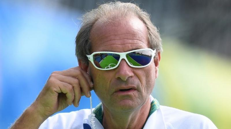 Last week, Roelant Oltmans was sacked as the head coach of the Indian men's hockey team, following a three-day meeting of the Hockey India High Performance and Development Committee.(Photo: AFP)