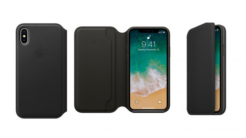 brand new f712c 85a50 Watch Out! Apple's iPhone X leather folio case can kill your credit ...