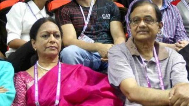 P Chidambaram's wife was last summoned by the agency for May 7 but she appealed against the summonses before the Madras High Court. (Photo: PTI)