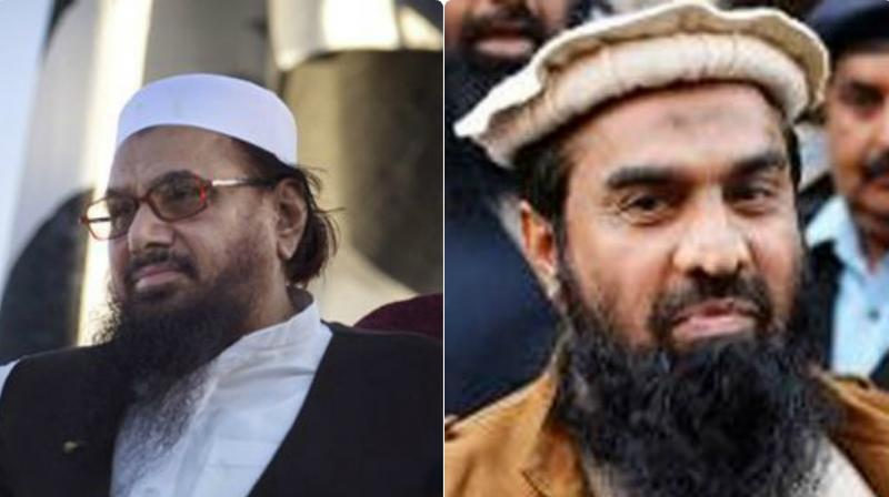 26/11 mastermind Hafiz Saeed and Zakiur Rehman Lakhvi. (Photo: File)