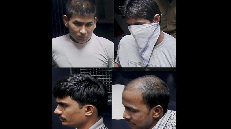 Pawan Kumar Gupta, Vinay Sharma, Mukesh and Akshay Kumar Singh - the four convicts in the case. (Photo: PTI)