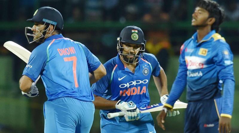Rohit Sharma and MS Dhoni ensured that there were no futhur hiccups and guided Team India to the victory. (Photo: AP)