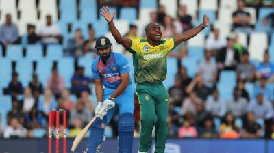 Junior Dala has pushed India on the backfoot with the wickets of Rohit Sharma and Virat Kohli in the 2nd South Africa versus India T20. (Photo: BCCI)