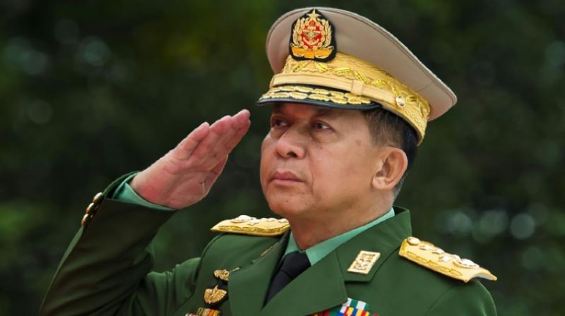 Myanmar Armed Forces Commander-in-Chief Senior General Min Aung Hlaing, seen here in July 2018, has been hit with sanctions by the United States. (Photo: AFP)