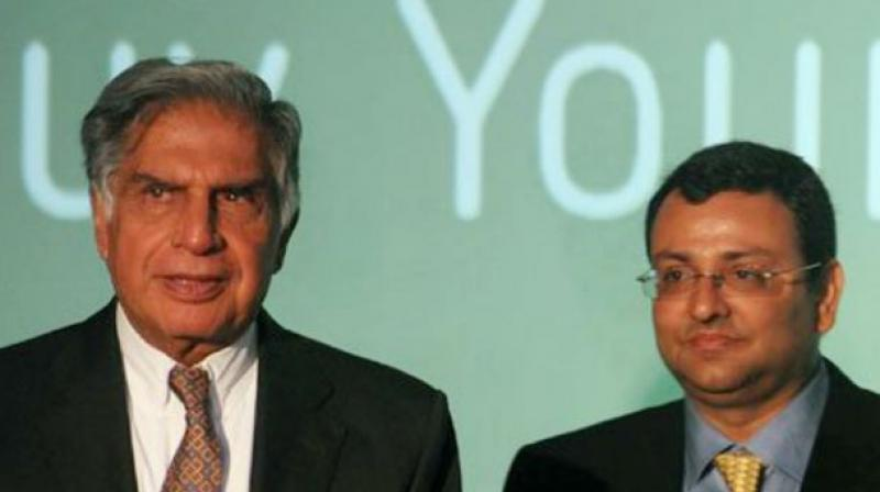 Ratan Tata with Cyrus Mistry (Photo: AFP)
