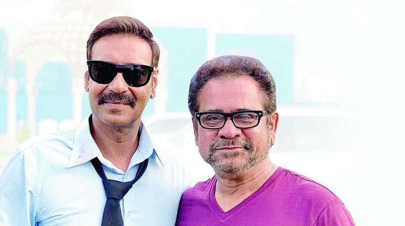 Ajay Devgn with director Anees Bazmee