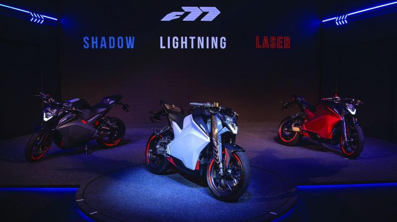 With an acceleration of 0-60 kmph in 2.9 seconds, top speed of 140 kmph, and a range of 150 km on a single charge, the F77 bike is all set to completely redefines the identity for electric mobility in India with revolutionary design, technology and user experience.