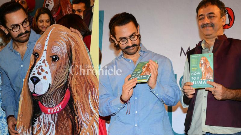 Aamir Khan stepped out to launch Rajkumar Hirani's wife Manjeet's book at an event in Mumbai on Monday. (Photo: Viral Bhayani)