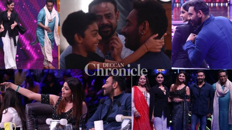 Ajay Devgn and Ileana D'Cruz promoted their upcoming film 'Raid' on the sets of a reality show in Mumbai on Monday. (Photo: Viral Bhayani)