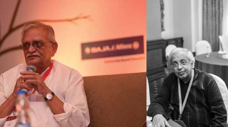 Gulzar at the Bengaluru Poetry Festival 2017 and Poet Ashok Vajpeyi (Image courtesy: Facebook)