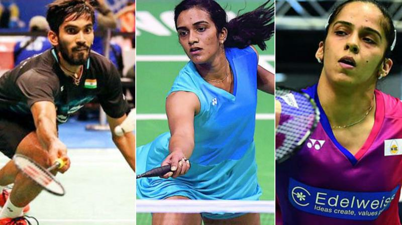 Kidambi Srikanth, PV Sindhu and Saina Nehwal has a comfortable outing  on Monday. (Photo:PTI))