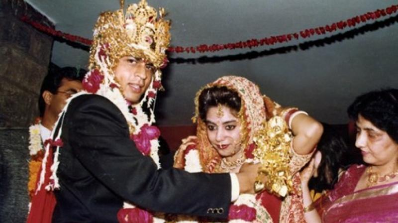 Wedding Photo Of Gauri And Shah Rukh Khan