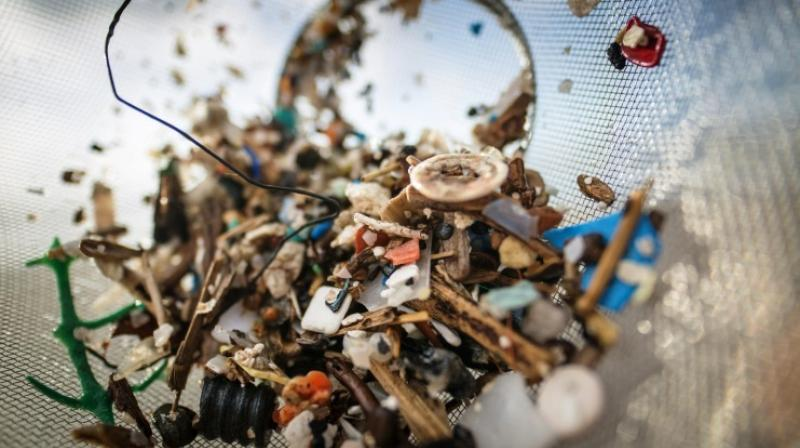 Microplastic particles are either dumped directly into the seas via sewers and rivers or form when larger chunks of plastic break down over time. (Photo: AFP)