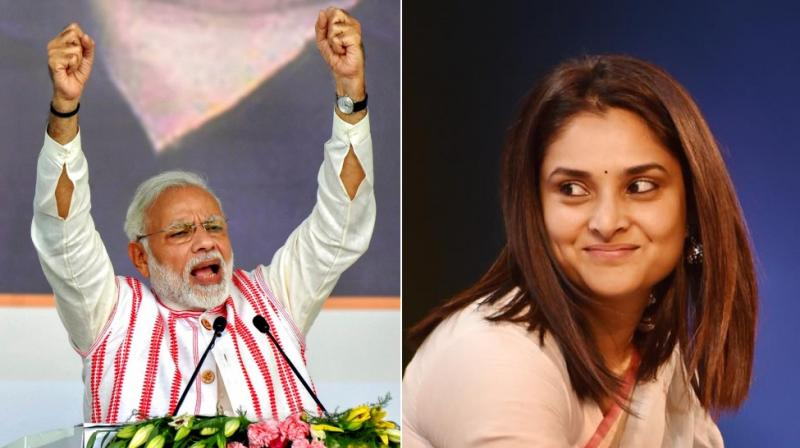 On Wednesday a sedition case was filed against Divya Spandana in Lucknow for referring to Prime Minister Narendra Modi as a 'thief'. (Photo: Facebook | AP)