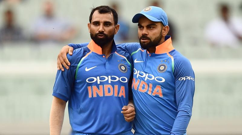 Although new fast bowlers like Jasprit Bumrah and Bhuvneshwar Kumar have emerged, Shami has successfully put the issues behind and is now a regular member in India's ODI squad. (Photo: AFP)
