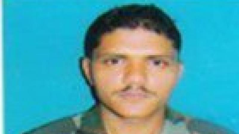 Army Jawan Sepoy Sandeep (in pic) who lost his life in Pulwama encounter earlier today. (Photo: ANI twitter)