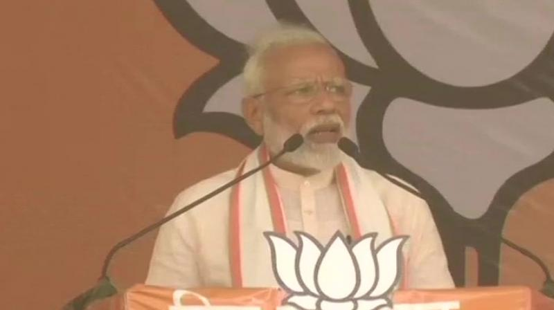 The Prime Minister said that the young voters of the country are convinced that only BJP government can fulfil their dreams. (Photo: ANI twitter)