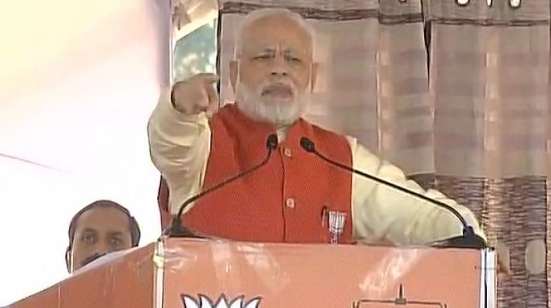 Prime Minister Narendra Modi speaking at a rally in Punjab. (Photo: ANI Twitter)