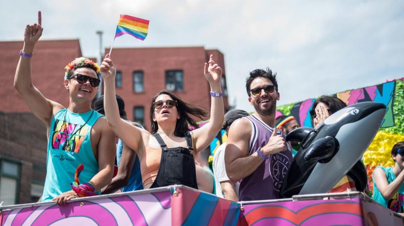 Abbi Jacobson attends the 2018 New York City Pride March on June 24, 2018 in New York City. (Photo: AFP)