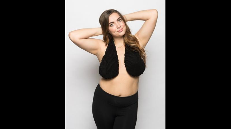 Under-bust sweat is a problem faced by women everywhere and Erin's Ta-Ta towel offers a good solution to it (Photo: Ta Ta towel website screengrab)
