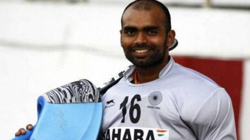 Goalkeeper PR Sreejesh may feature in his first competitive event in eight months after being named in India's 20-member squad for a four-nation tournament in New Zealand.(Photo: PTI)