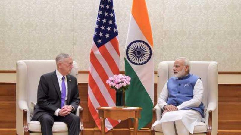 US Defense Secretary Jim Mattis met Prime Minister Narendra Modi in New Delhi last week. (Photo: MEA_India | Twitter)