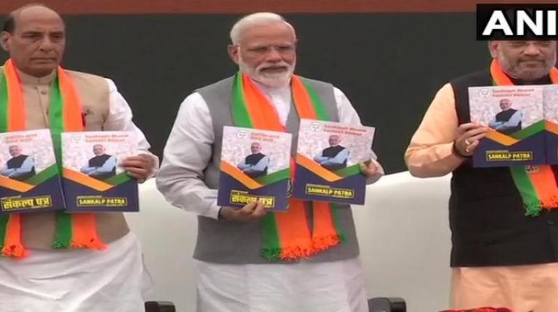 The BJP had said it will establish National Traders' Welfare Board and create a national policy for retail trade for the growth of retail business. (Photo: ANI | Twitter)
