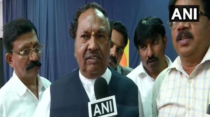 """The strength of BJP is increasing day-by-day"""",  BJP leader K. S. Eshwarappa added.  (Image: ANI)"""