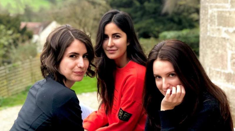 "Katrina shared a photograph with her younger sisters Isabel and Sonia and captioned it, ""Farm girls."
