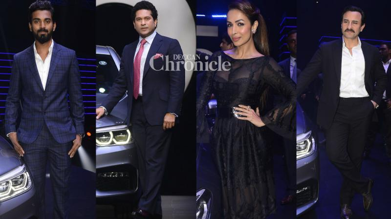 Bollywood stars and cricketers came out in style at the launch of a new luxury car in Mumbai on Thursday. (Photo: Viral Bhayani)