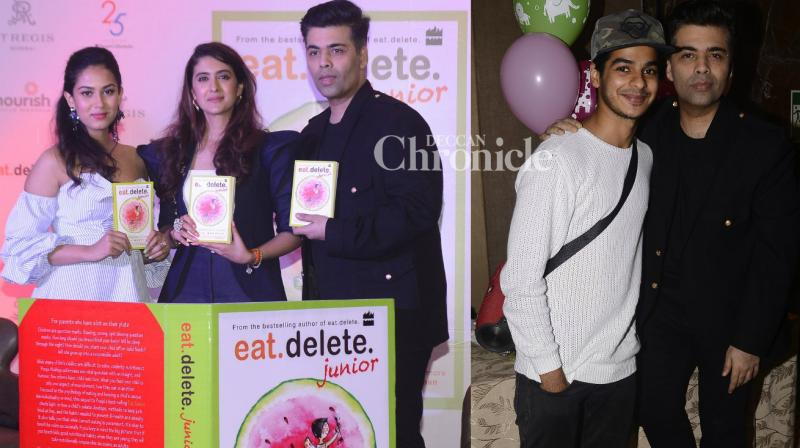Karan Johar, Mira Kapoor and several other stars were present at the launch of nutritionist Pooja Makhija's book 'Eat. Delete. Junior' at an event in Mumbai on Thursday. (Photo: Viral Bhayani)