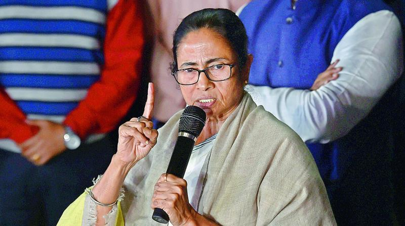 West Bengal Chief Minister Mamata Banerjee addresses media in Kolkata. (Photo: AP)