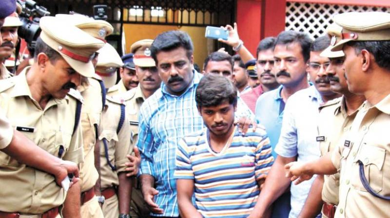 Police produces Ameerul Islam before the Kuruppampady judicial first class magistrate court in Kochi on Thursday. (Photo: DC | File)