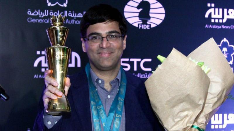 After ending the first day of the Blitz category on a disappointing note when he suffered a loss at the hands of Ian Nepomniachtchi of Russia, Anand was a class act on the final day as he won against Maxime Vachier-Lagrave of France. (Photo: Twitter)