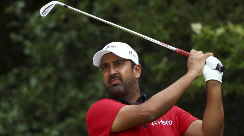 Making the win sweeter for Kapur was that his wife Maya and five-month old daughter, Veda, were present on the 18th green. (Photo: PTI)