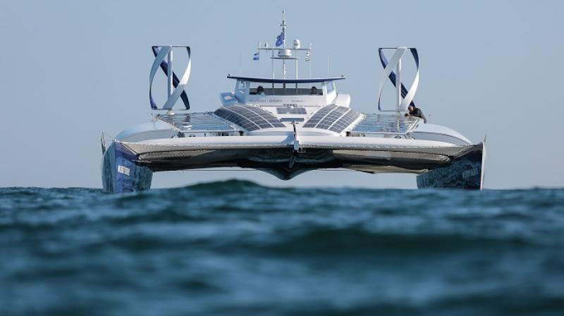 Energy Observer, developed by Victorien Erussard is running on renewable energy sources and is on its trip to sail through all the oceans across the globe.