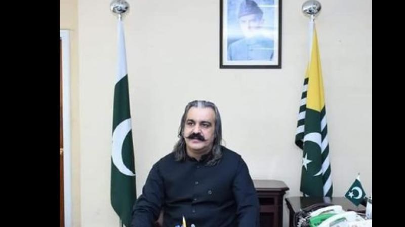 Minister for Kashmir Affairs and Gilgit Baltistan Ali Amin Gandapur. (Photo: Twitter)
