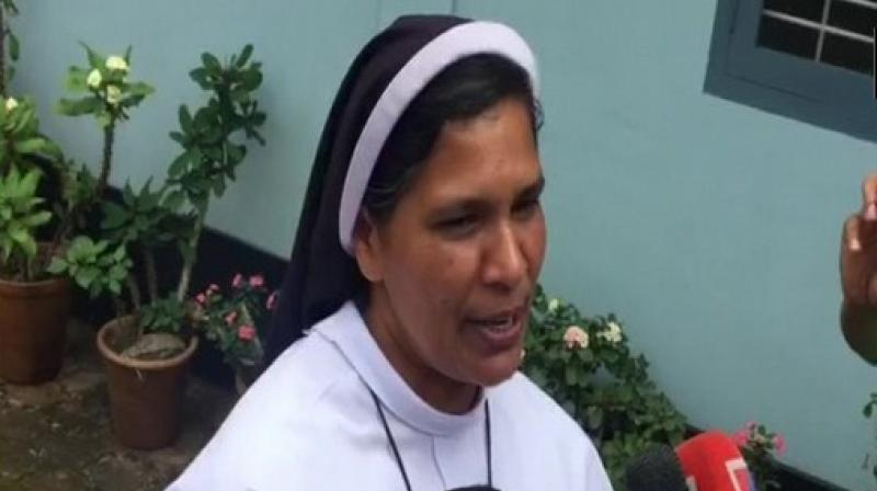 Five nuns had protested for 13 days near the Kerala High Court in Kochi demanding the arrest of Mulakkal who has been accused of repeatedly raping a nun. Sister Lucy had expressed her solidarity for the protest which garnered support from various quarters. (Photo: ANI)