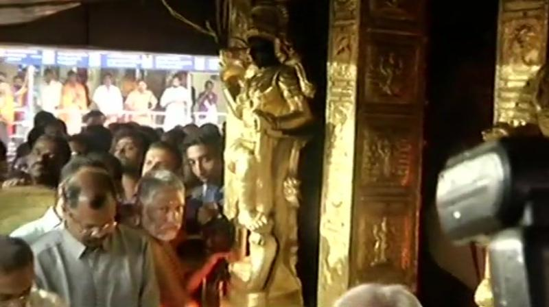 Temple priests said they will shut the temple if women between 10 and 50 enter the temple premises. (Photo: Twitter | ANI)
