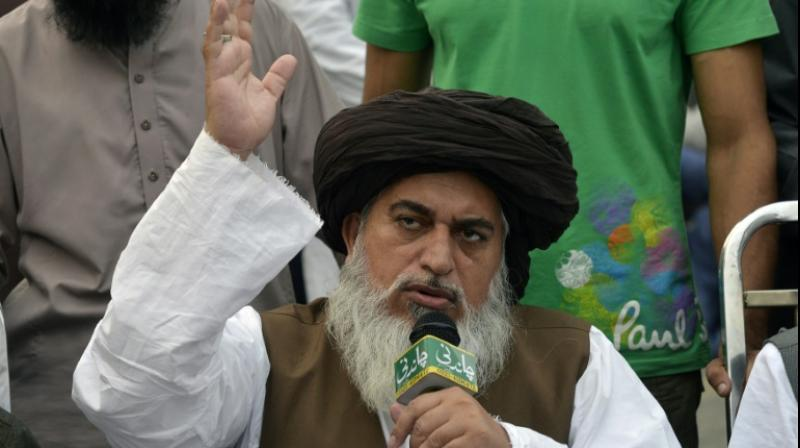 Firebrand cleric Khadim Hussain Rizvi, who is the leader of the Tehreek-e-Labaik Pakistan party, was detained ahead of a scheduled rally on Saturday in Islamabad. (Photo:
