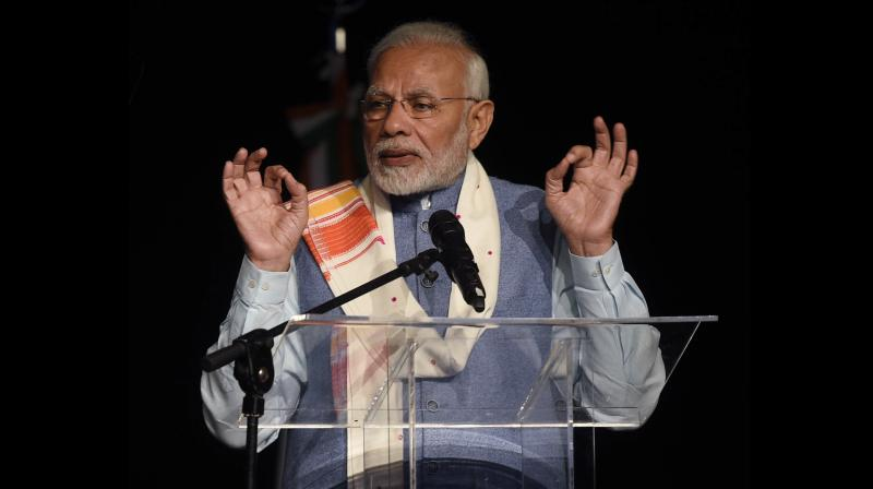 Praising the organisers of the 'Yoga for Peace' event, he said it's hard to think of a better name.(Photo: AP)