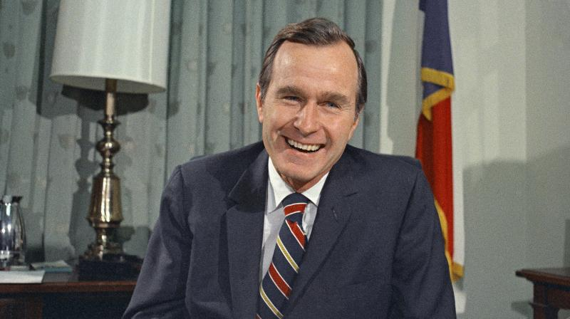 'America has lost a patriot and humble servant in George Herbert Walker Bush. While our hearts are heavy today, they are also filled with gratitude,' former President Barack Obama said. (Photo: AP)