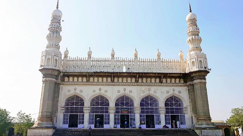 The department of archaeology and museums first began work on conservation and restoration of the mosque at an estimated `98 lakh in June 2010.